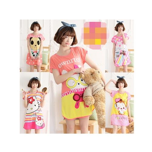 KOREAN LADIES CUTE PYJAMAS DRESS OFFER ! ! MURAH ! !