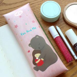 Korean Live Work~Bear & Girl Pencil Case