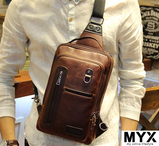 Korean Man Chest Pack Bag Shoulder Pouch Casing