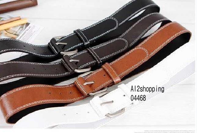 Korean men and women can be the Leather fashion belt04468