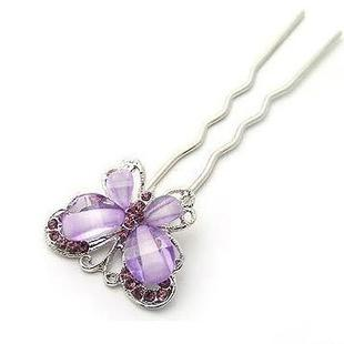 Korean Resin Butterfly Diamond Hairpin