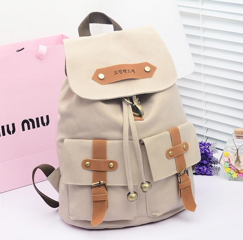 Korean School Bag/Canvas Shoulder Bag/BackPack/LapTop/Travel Bag