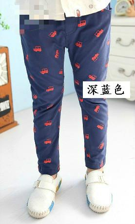 Korean Style Boys Casual Long Pants (Blue)
