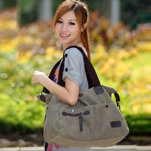 Korean style canvas bag handbag new  version of the 2011 fall big bag Mes..