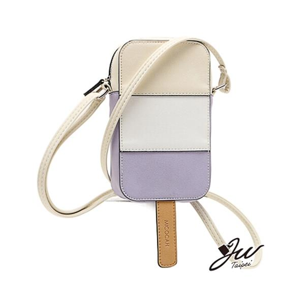 Korean Style Colorful Ice Cream Shape Cross Body Bag-Purple