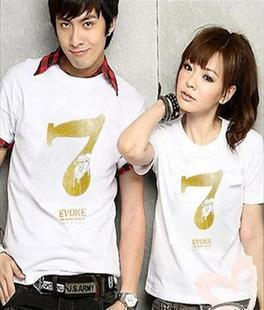 korean style couple T shirt 1 pair promotion price RM35 T024W