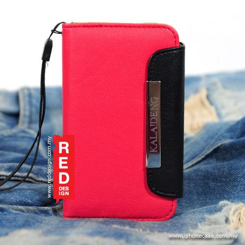 Original KALAIDENG Flip Leather Wallet Case for iPhone 4 4s - Red