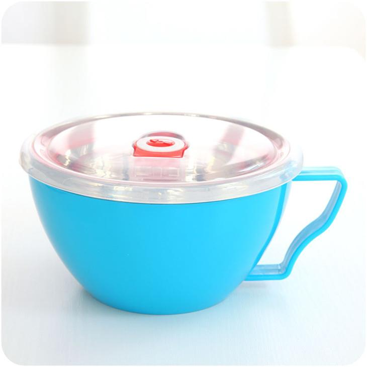Korean Style Stainless Steel Instant Noodles Bowl with Cover