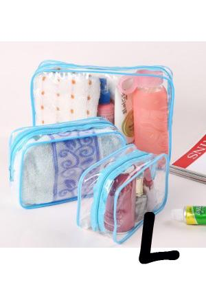 Korean Thick PVC Transparent Storage Bag (L)