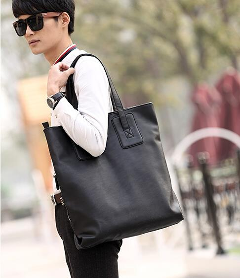 The new Korean version cortex leisure tide men's shoulder handbag