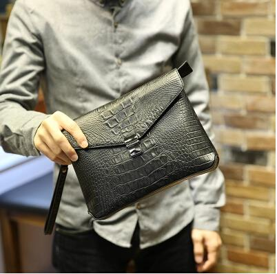 Korean version of crocodile pattern the new fashion envelope bag