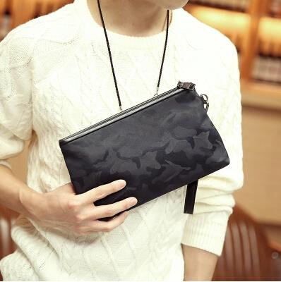 Korean version fashion men camouflage waterproof clutch bag