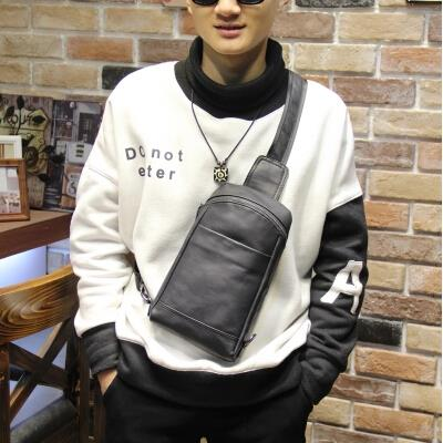 Korean version fashion men outdoor leisure crossbody chest bag