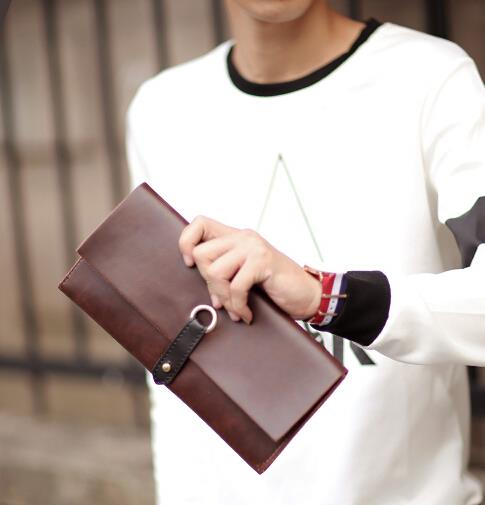 Korean version of male fashion multi-card-bit clutch bag