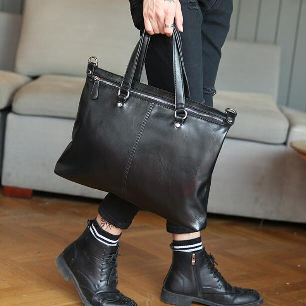 The new Korean version of men fashion business casual briefcase