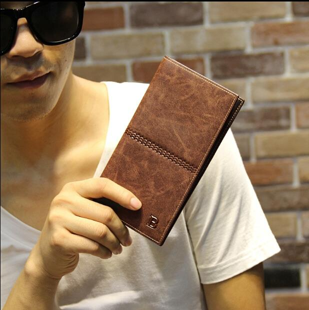 Korean version of the men long section cow leather wallet