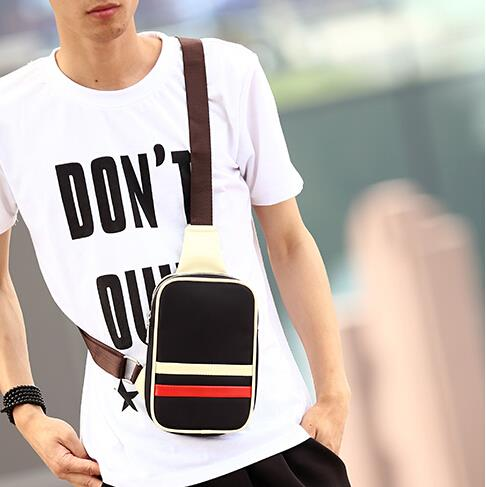The new Korean version metrosexual nylon canvas chest bag