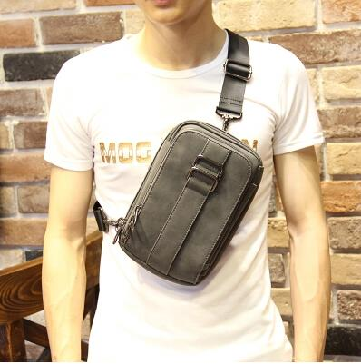 Korean version of tide men chest bag