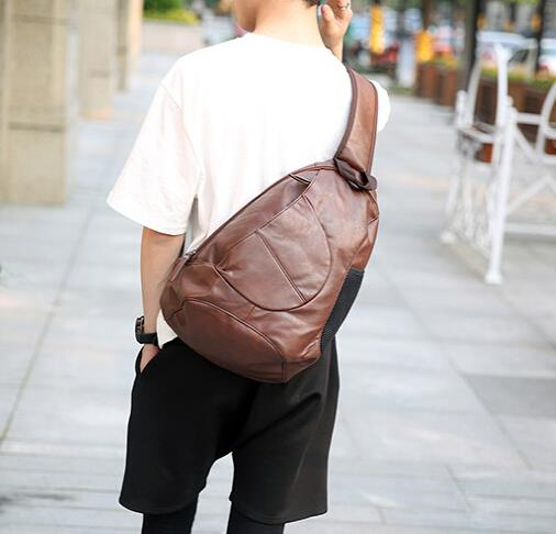 New Korean version of the trend men large capacity diagonal chest bag