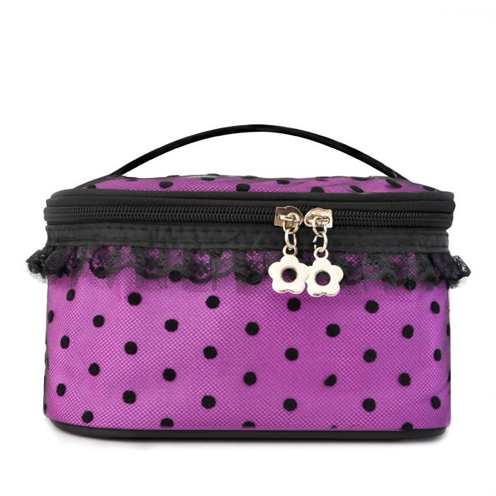 Korean Water-proof Lace Dot-dot Princess Cosmetic Bag