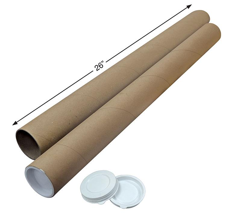 Kraft Mailing Tube 26' [Improved Design] 10pcs