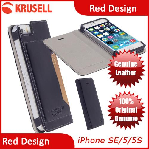 Krusell Kiruna Folio Genuine Leather Case for iPhone SE iPhone 5S