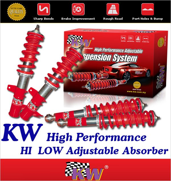 KW Hi-Low Adjustable Absorber Kit: PROTON PERDANA 2.0, V4, V6