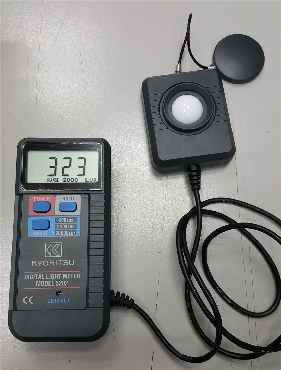 Kyoritsu 5202 Digital Light Meter (200/2000/20000lux)