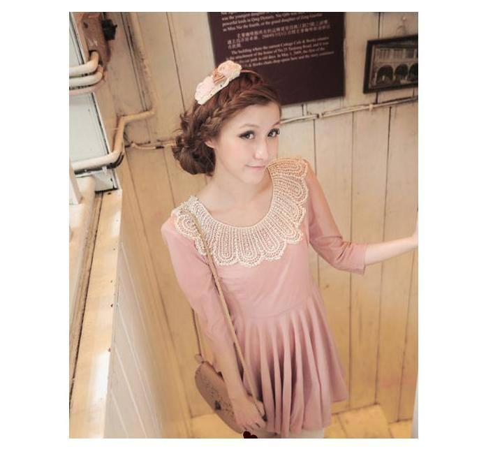 Lace Sewing Collar Necklace 851