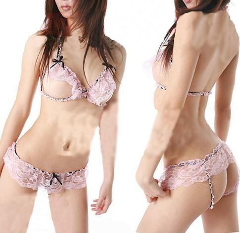 Lace Sexy Bra Set 2pcs