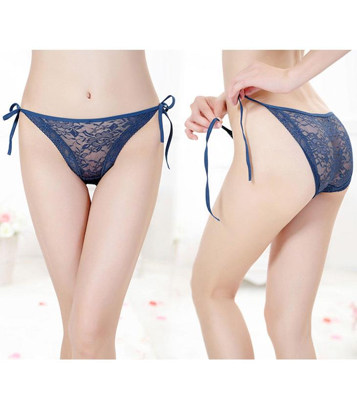 Lace Transparent Side Tie Passion Underwear