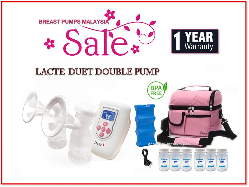 Lacte Duet  Double Electric Breastpump Combo Set, 1 Year Warranty