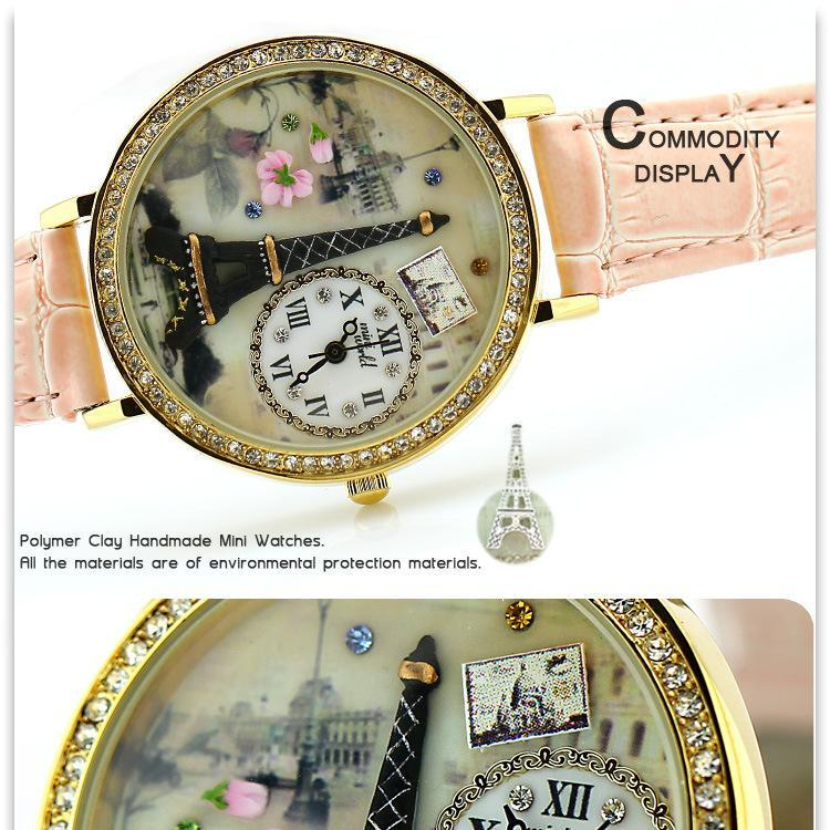 ladies watch latest handmade polymer clay mini watch MW1810