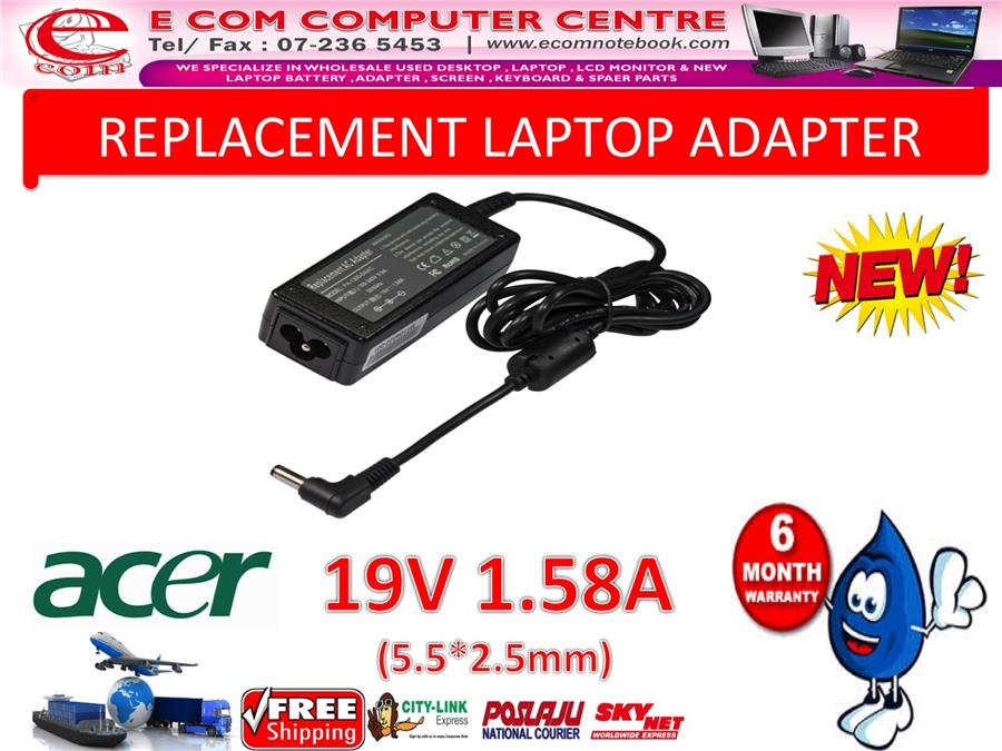 Laptop Adapter For Acer series 19V 1.58A(5.5mm*2.5mm)