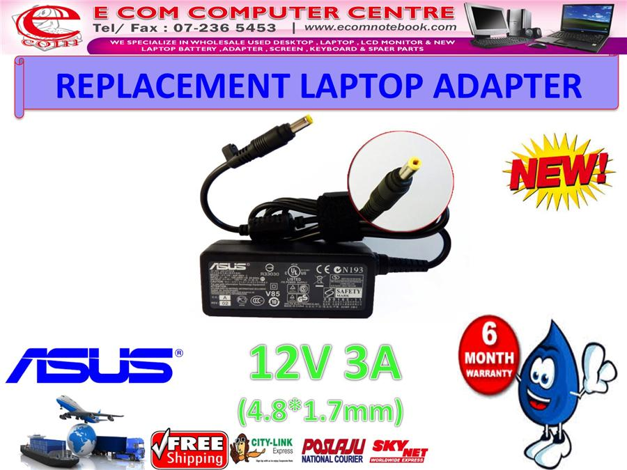 LAPTOP ADAPTER FOR ASUS SERIES 12V 3A (4.8MM*1.7MM)