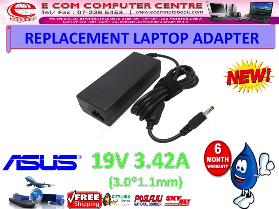 LAPTOP ADAPTER FOR ASUS SERIES 19V 3.42A (3.0MM*1.1MM)