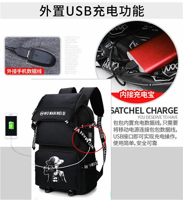 Laptop backpack bag set A8/with USB Charging Cable/Ready Stock