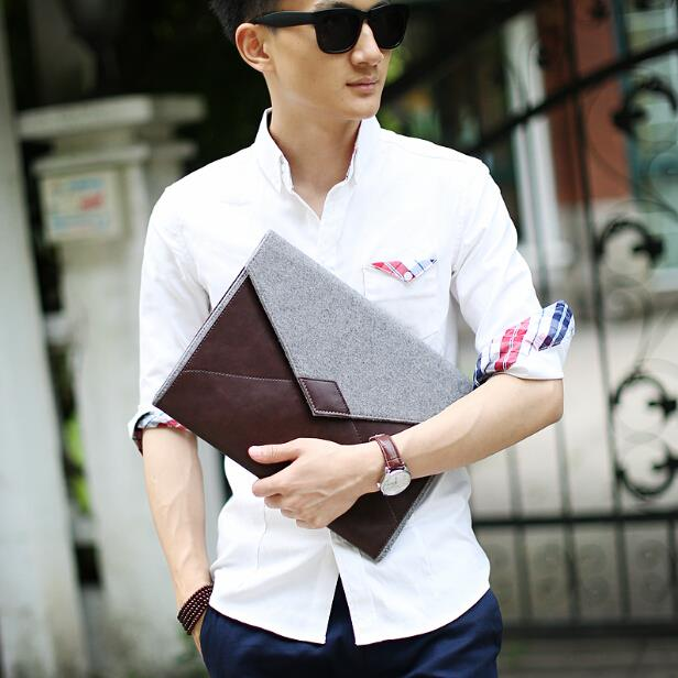 Large capacity male Korean version envelope clutch bag