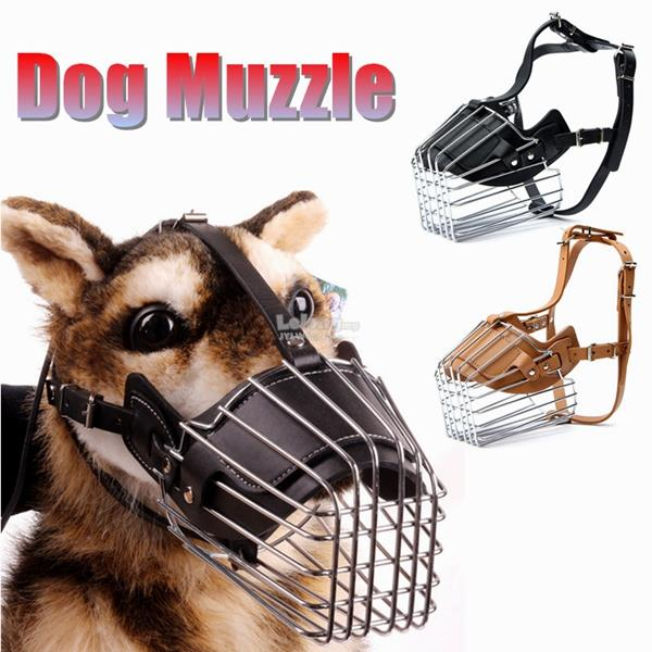 Large Dog Adjustable Basket Mouth Muzzle Cover Bark Bite Chew Control