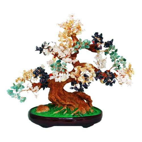 Large Multi Gem Tree with Gold Coins for Greater Chi