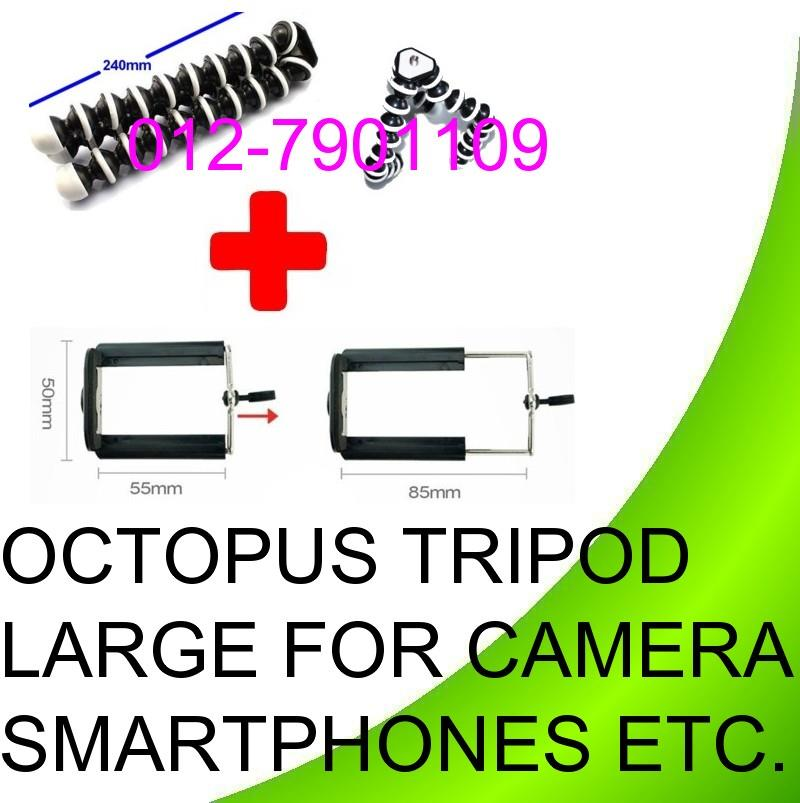 Large Octopus Flexible Camera tripod mobile handphone holder clips