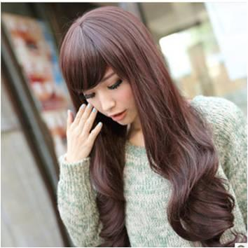Large wave long curve hair wig*  ready stock E21-rambut palsu