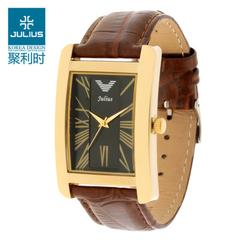 LATEST-JULIUS KOREAN FASHION SQUARE VINTAGE COUPLE WATCH FOR SALES