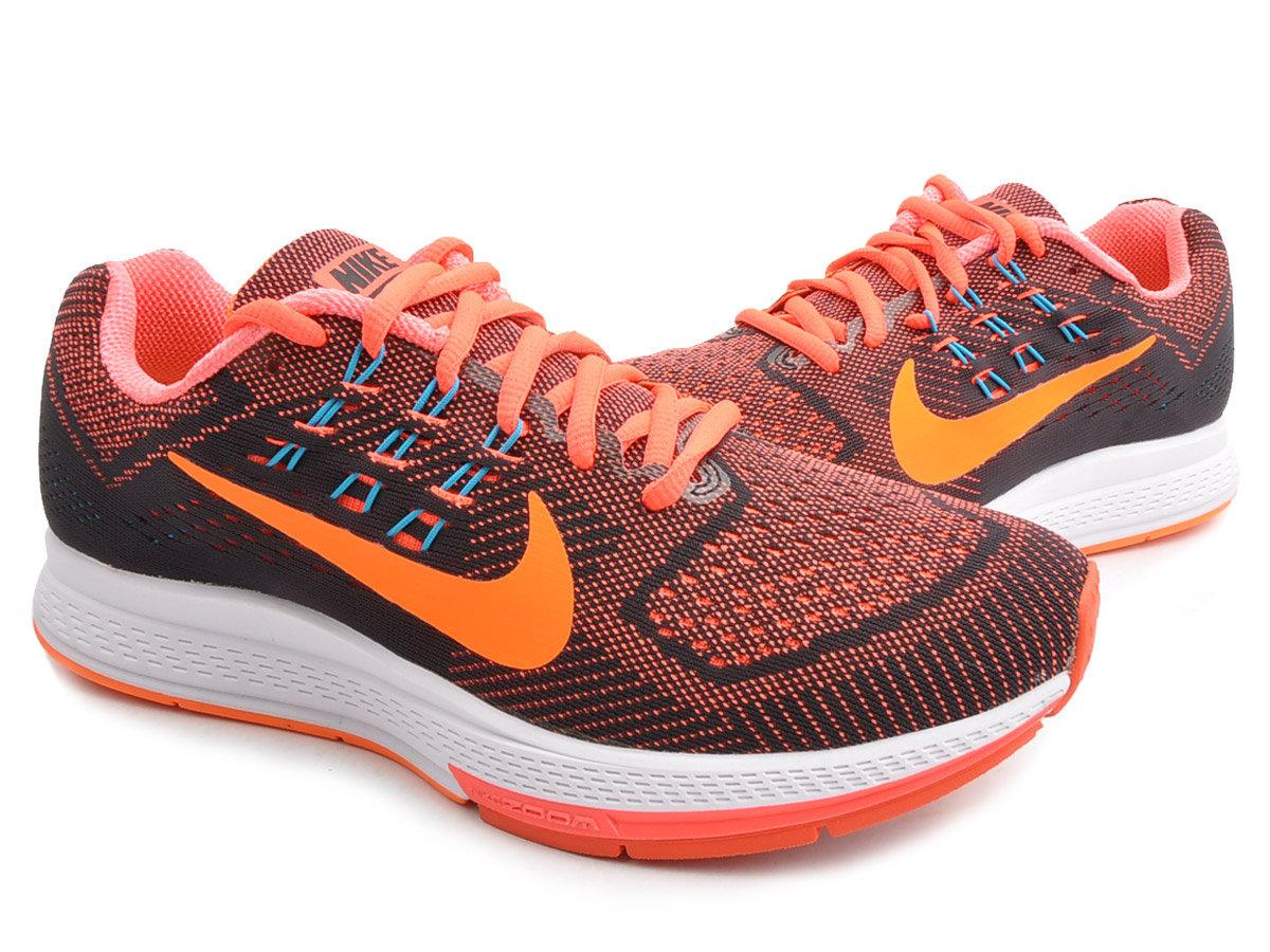 detailed look 1ecec be0fb mens nike zoom structure 18 grey orange