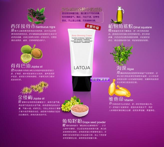 LATOJA Body Slimming Cream 150ml (王者归来 ..