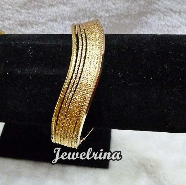 Layered Cut out Bangles (Shipping)