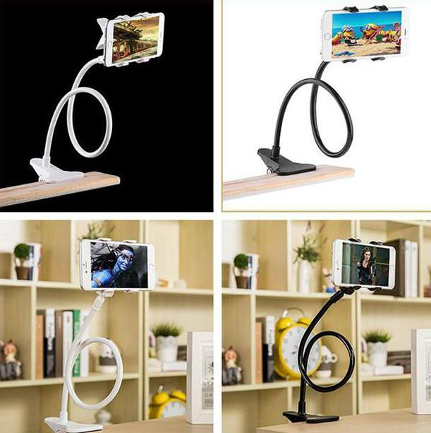 Lazy Bed Mobile Hand Holder Table Clip Mobile Holder Double Clip