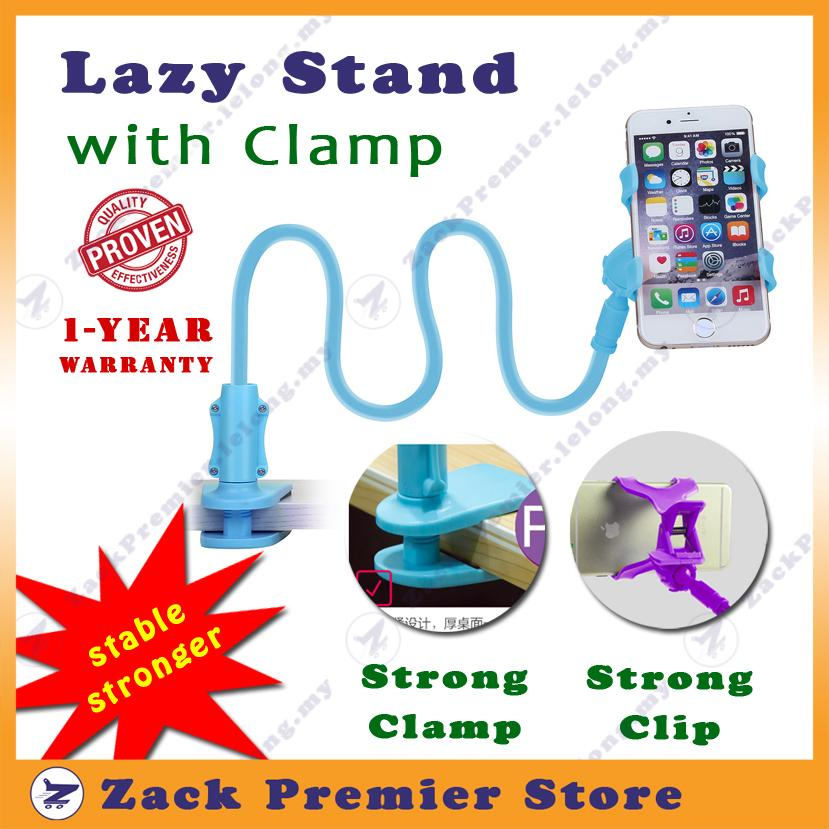 Lazy Stand with Screw Clamp - 1yr Warranty - Colourful PVC coating