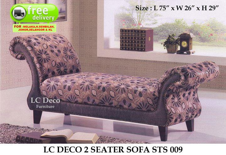 LC DECO 2 SEATER SOFA STS 009(KERUSI/CHAIR)