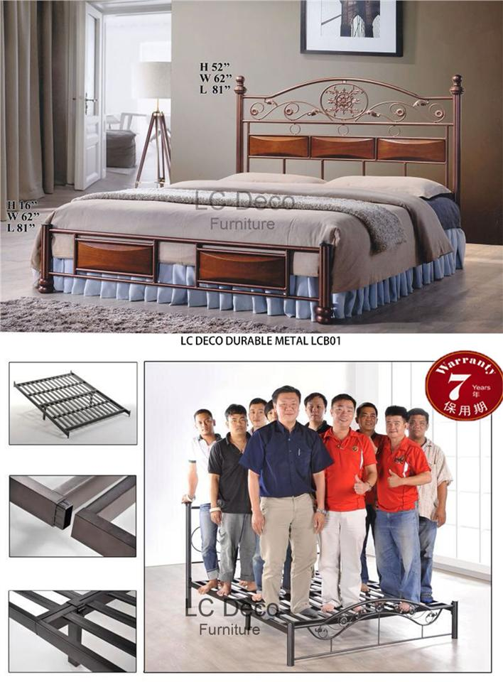 LC DECO DURABLE METAL LCB01(KATIL BESI)7YEARS WARRANTY